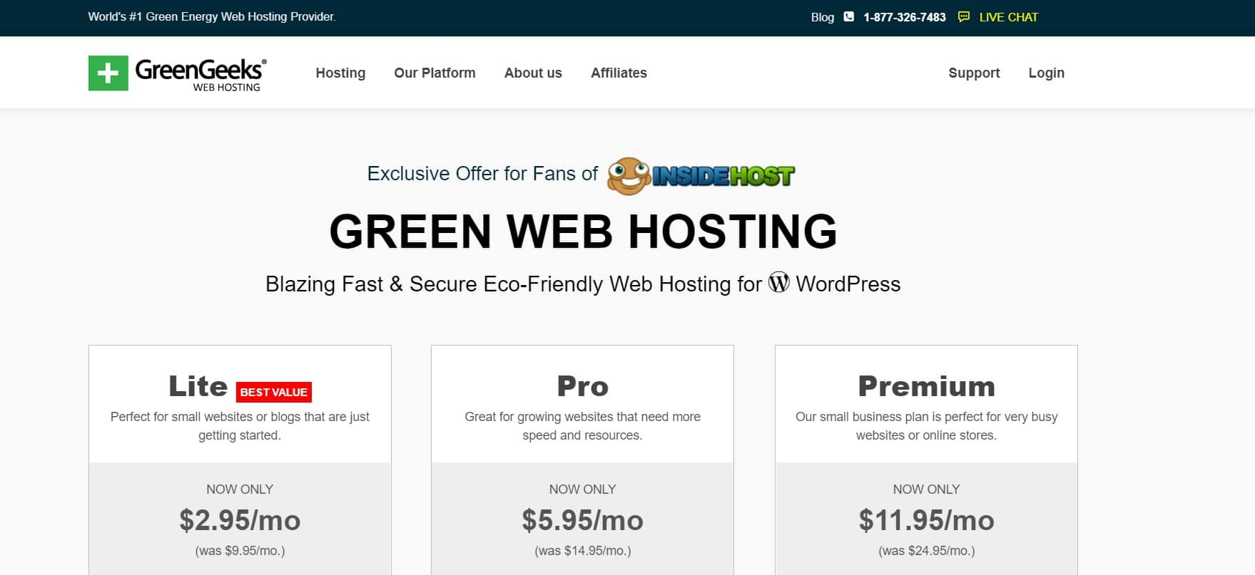 Greengeeks Coupon Code For Insidehost Users