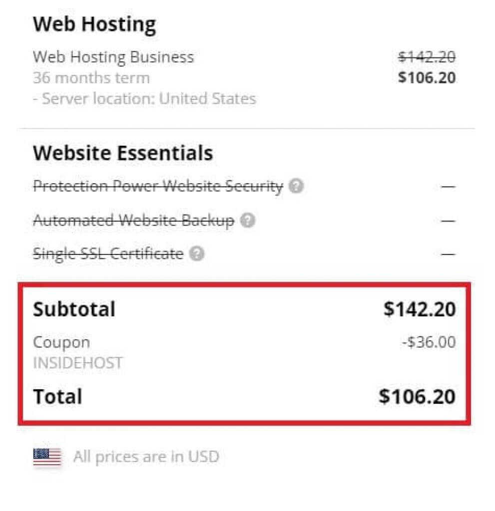 Insidehost's Hostpapa Coupon Auto Applies
