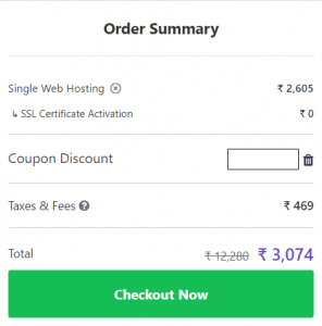 Apply Hosting Coupon Code India