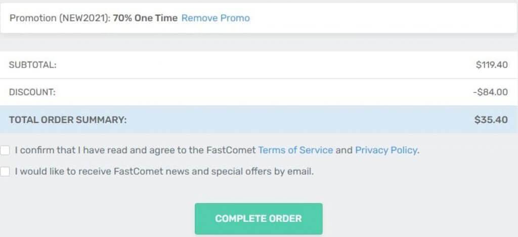 Apply Fastcomet Coupon Code