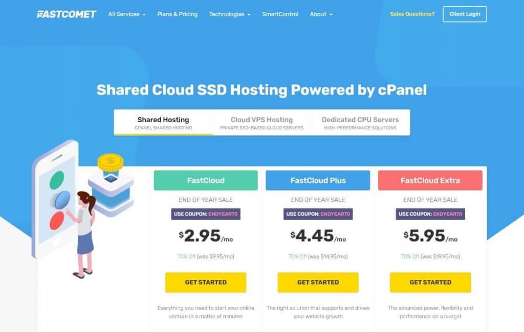 Fastcomet Web Hosting Plans