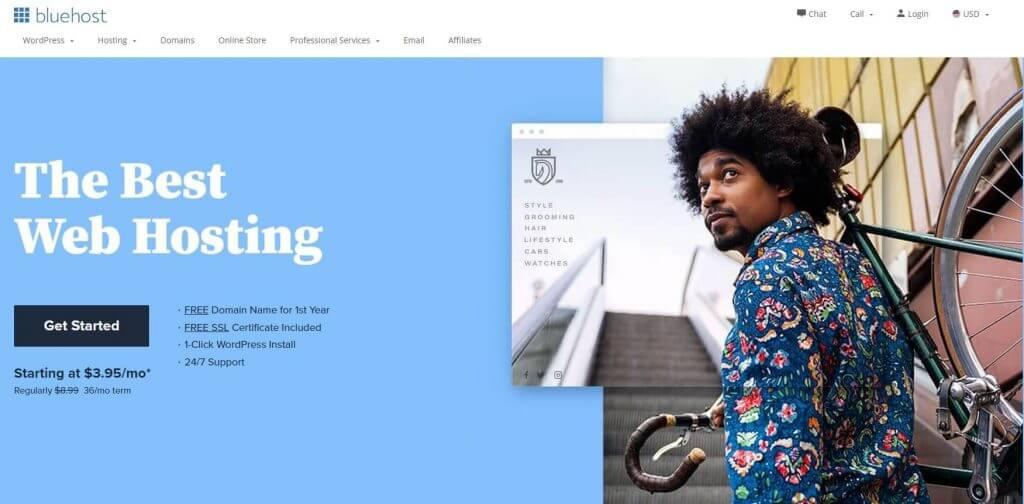 Bluehost.com Website