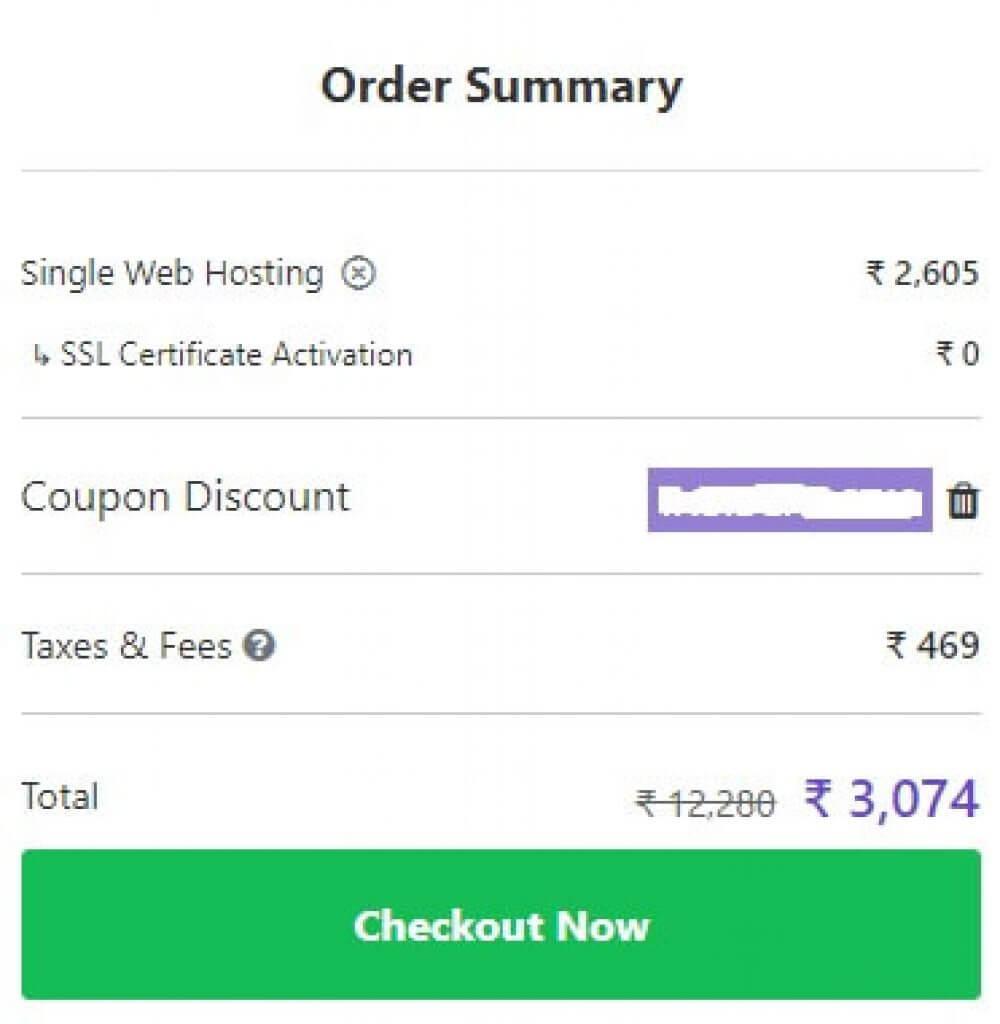 Use the Insidehost Hostinger coupon code India