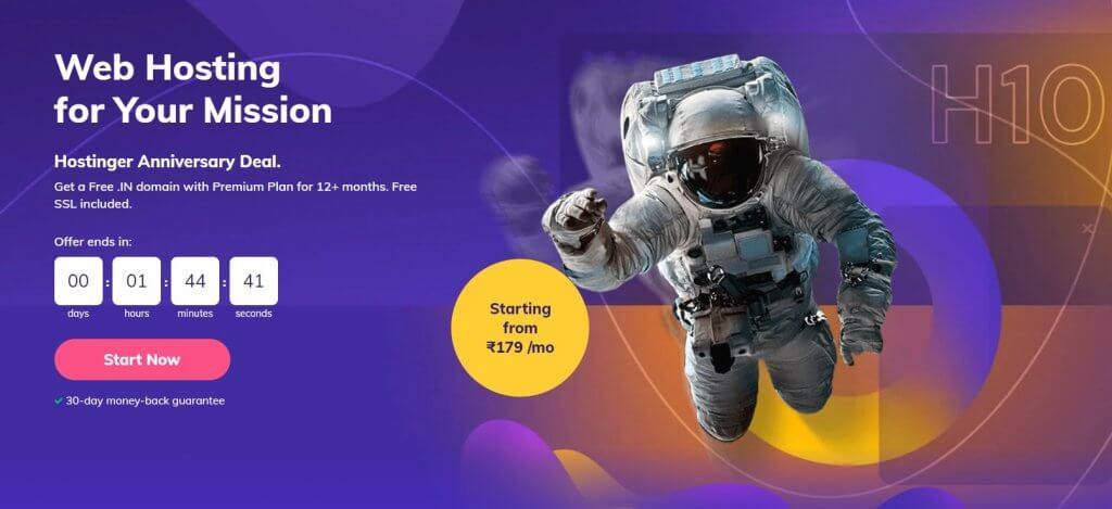 Hostinger India Website Homepage